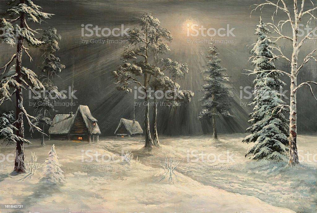 winter hut royalty-free stock vector art