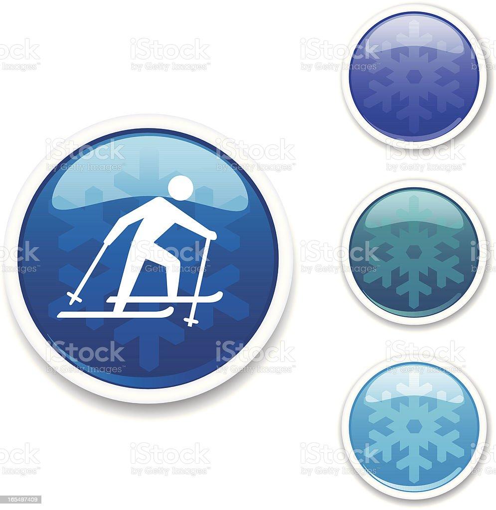 Winter Icons - Nordic Ski royalty-free stock vector art