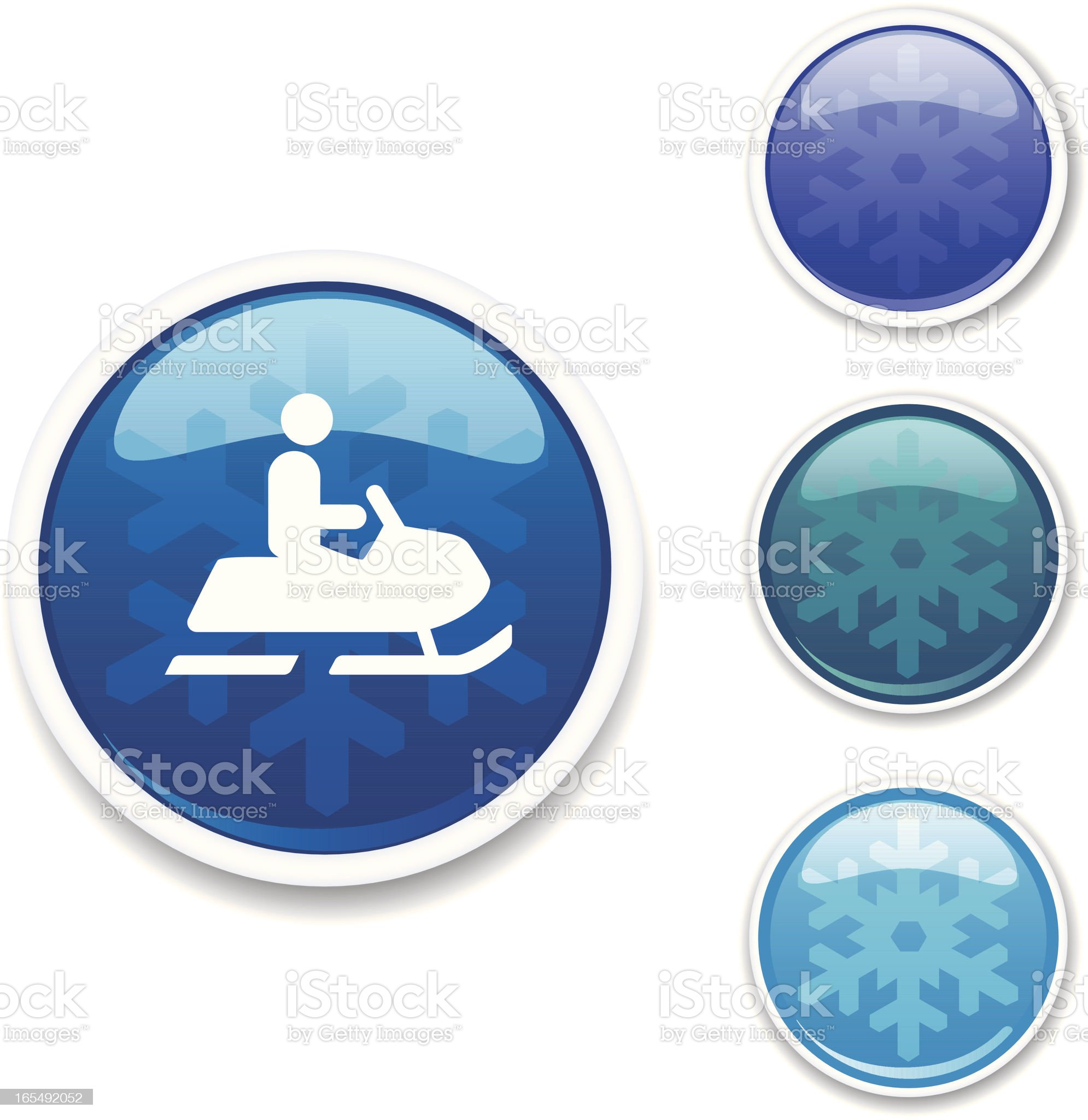 Winter Icons - Snowmobile royalty-free stock vector art