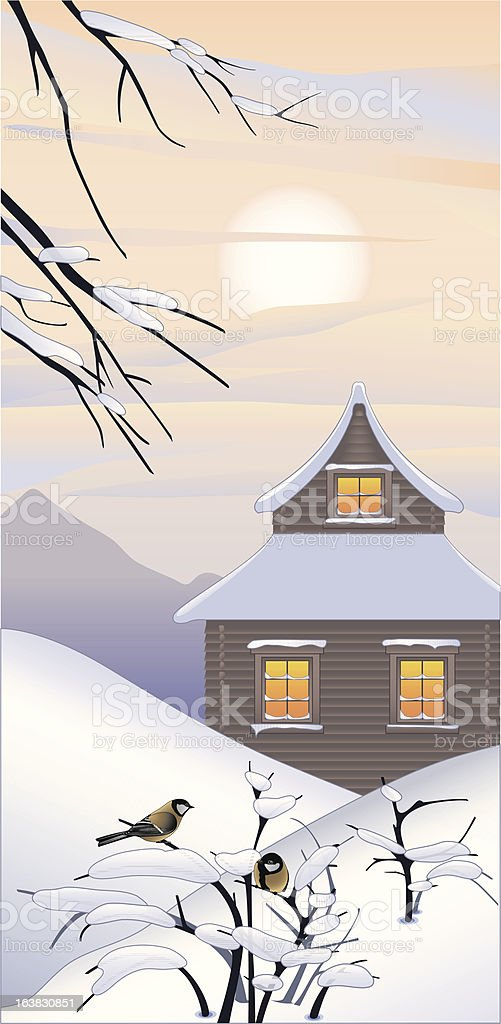 Winter land royalty-free stock vector art