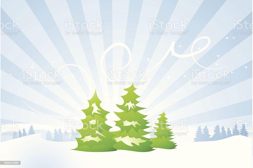 Winter landscape scene royalty-free stock vector art