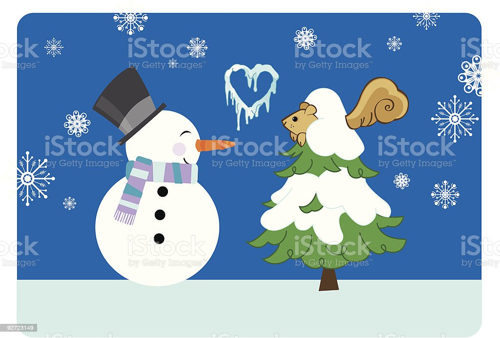 winter love royalty-free stock vector art