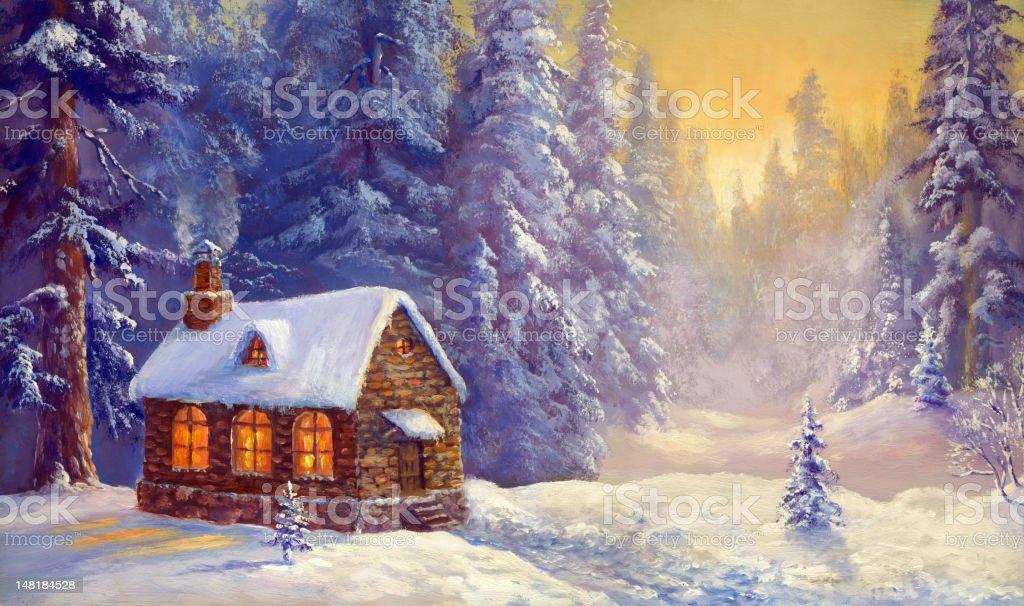 Winter Neverland vector art illustration