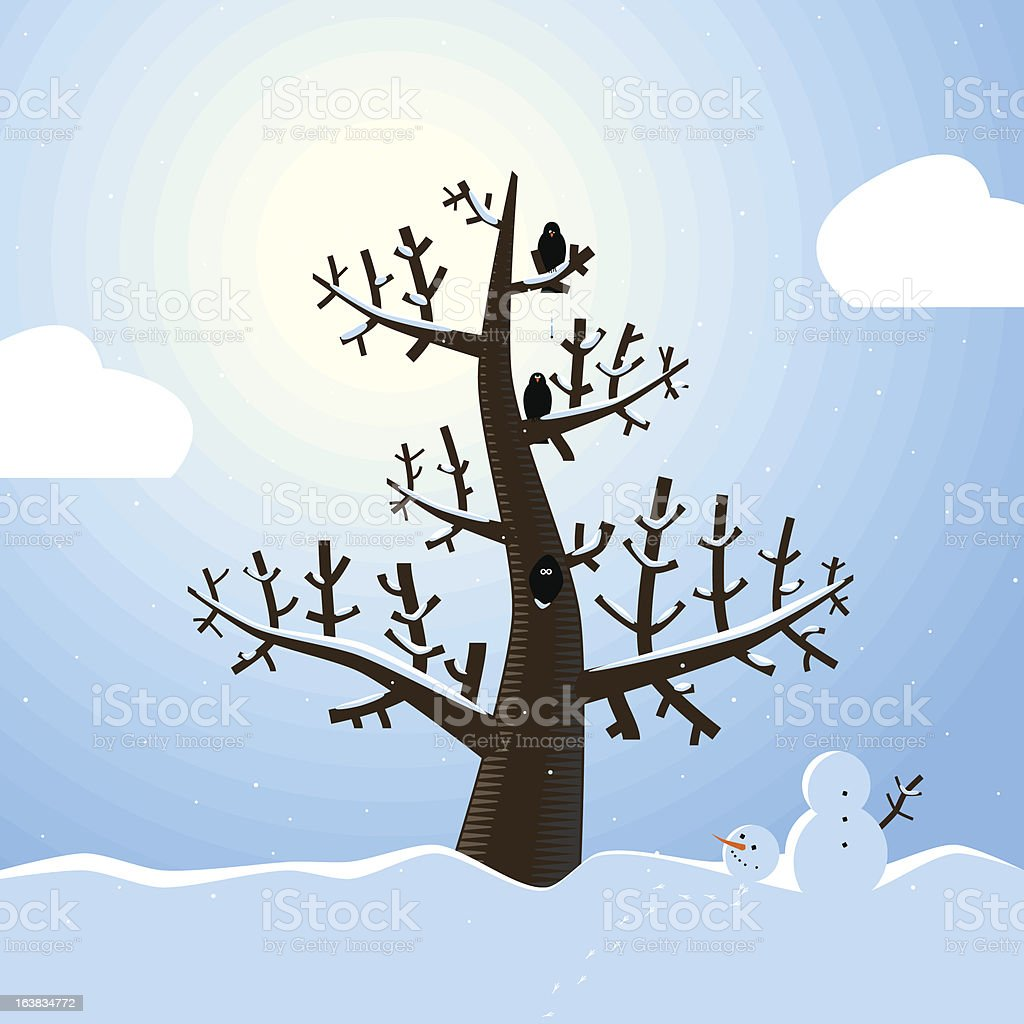Winter Scene royalty-free stock vector art