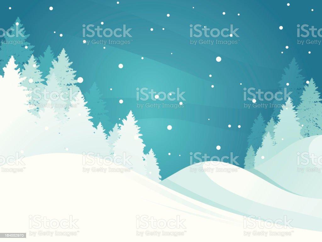 Winter Scenics Background royalty-free stock vector art