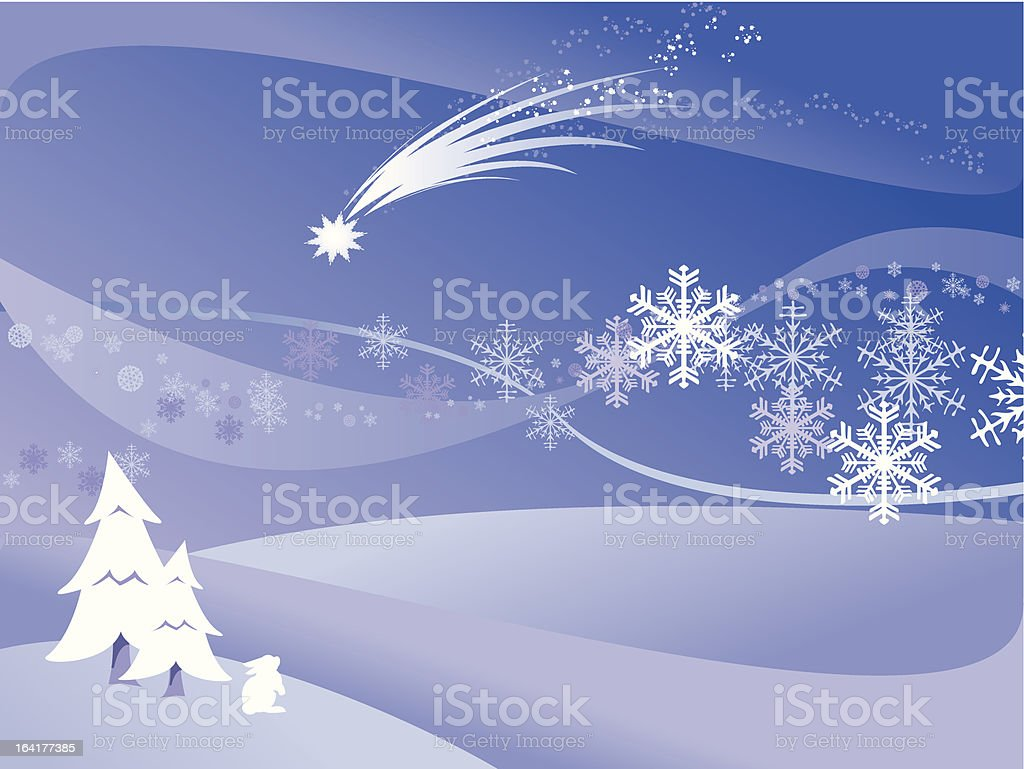 Winter Silence royalty-free stock vector art