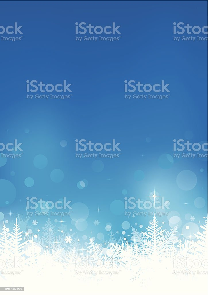 Winter snowflake background royalty-free stock vector art