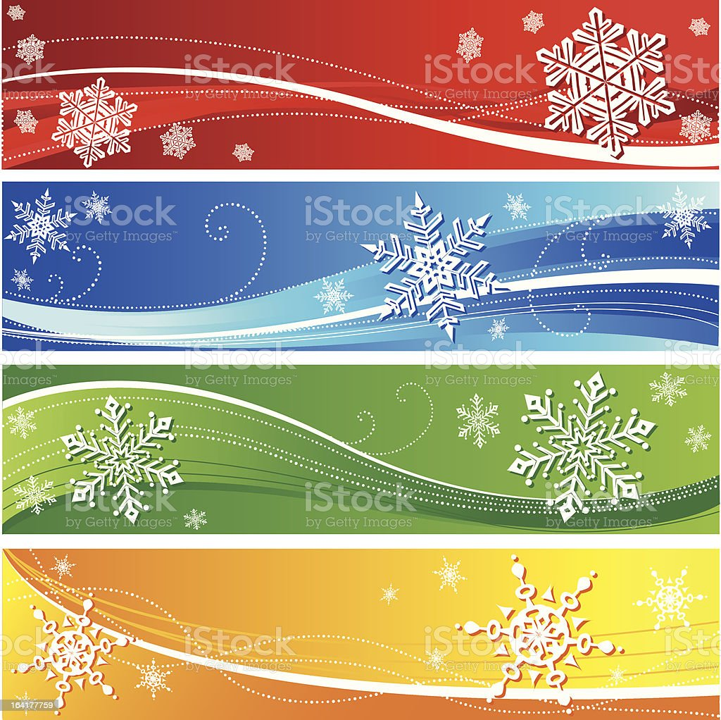 Winter snowflake banners royalty-free stock vector art