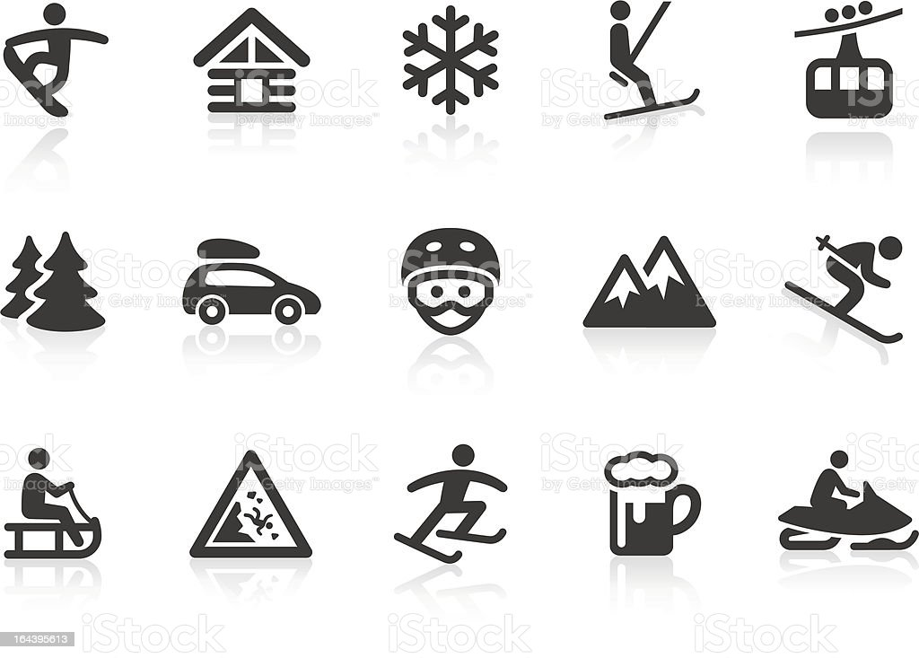 Winter Sport icons vector art illustration