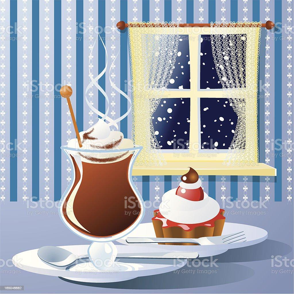 Winter treat vector art illustration