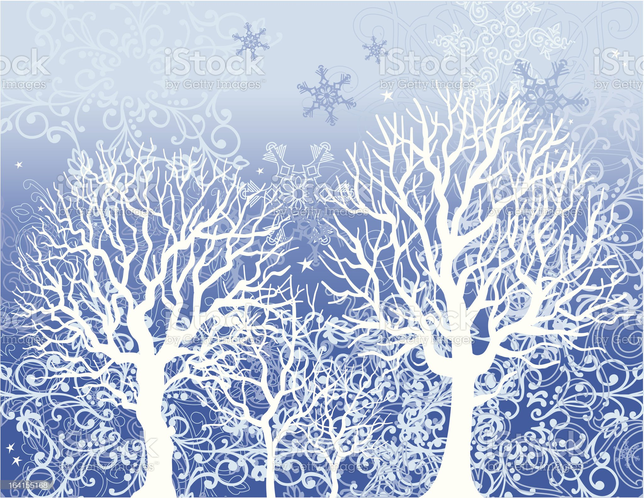 Winter trees royalty-free stock vector art