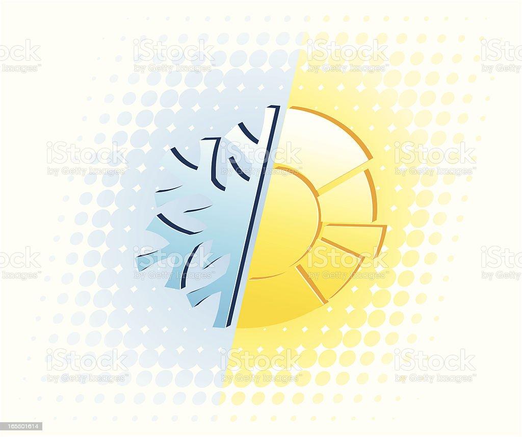 Winter vs Summer royalty-free stock vector art