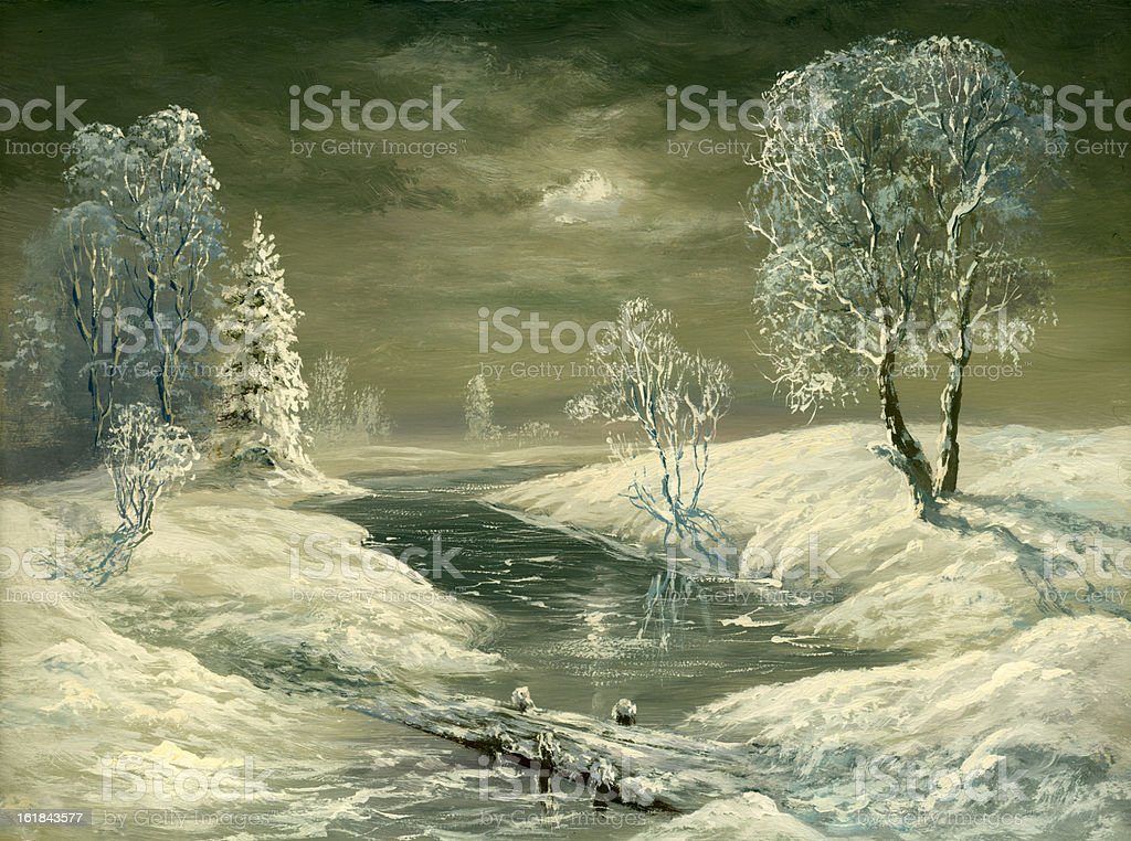 Winter weather royalty-free stock vector art