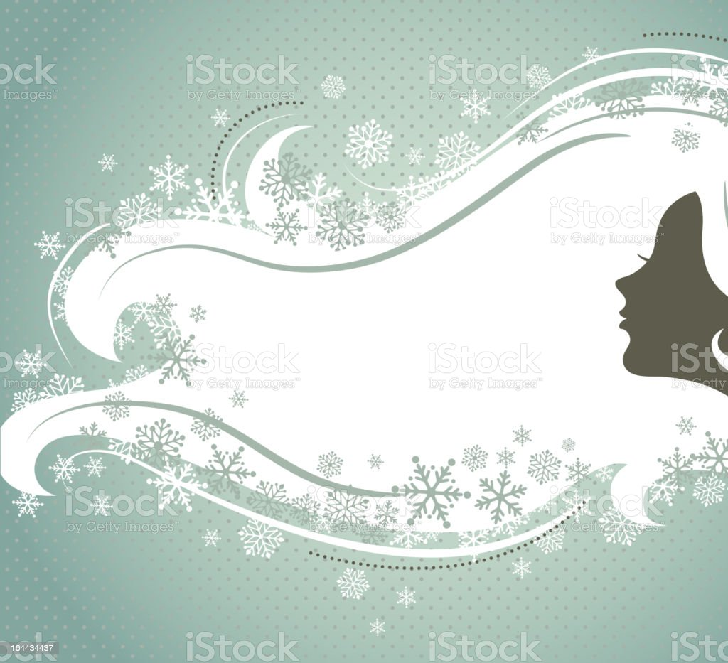 Winter woman royalty-free stock vector art