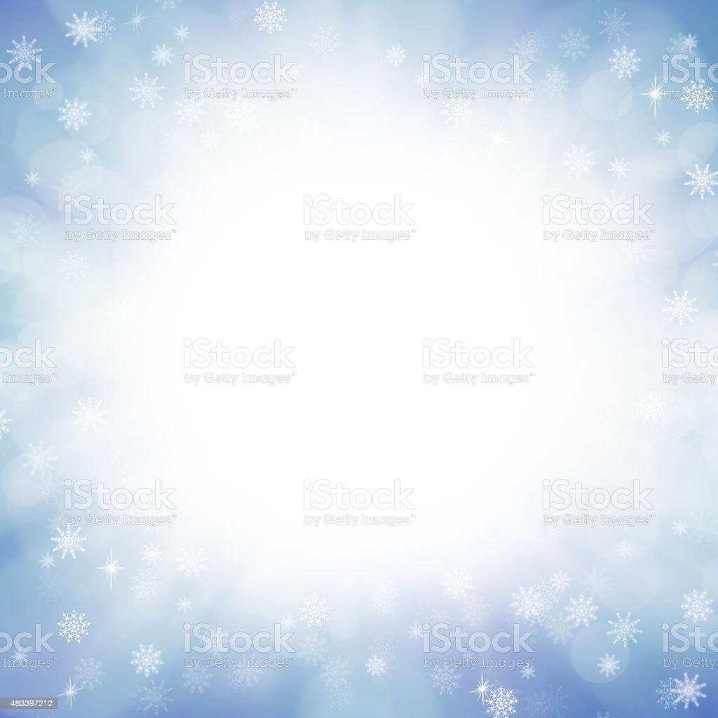 Winter Wonderland Background vector art illustration