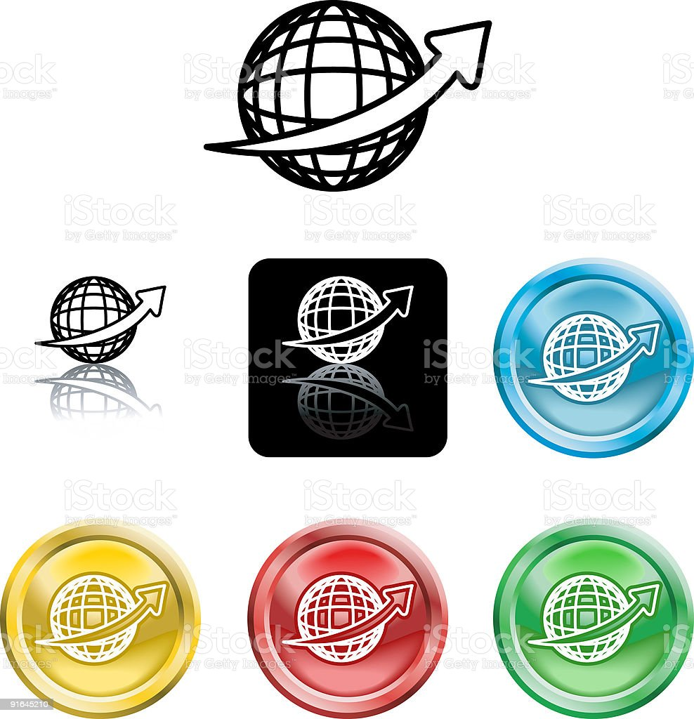 Wire Globe Icon Symbol royalty-free stock vector art
