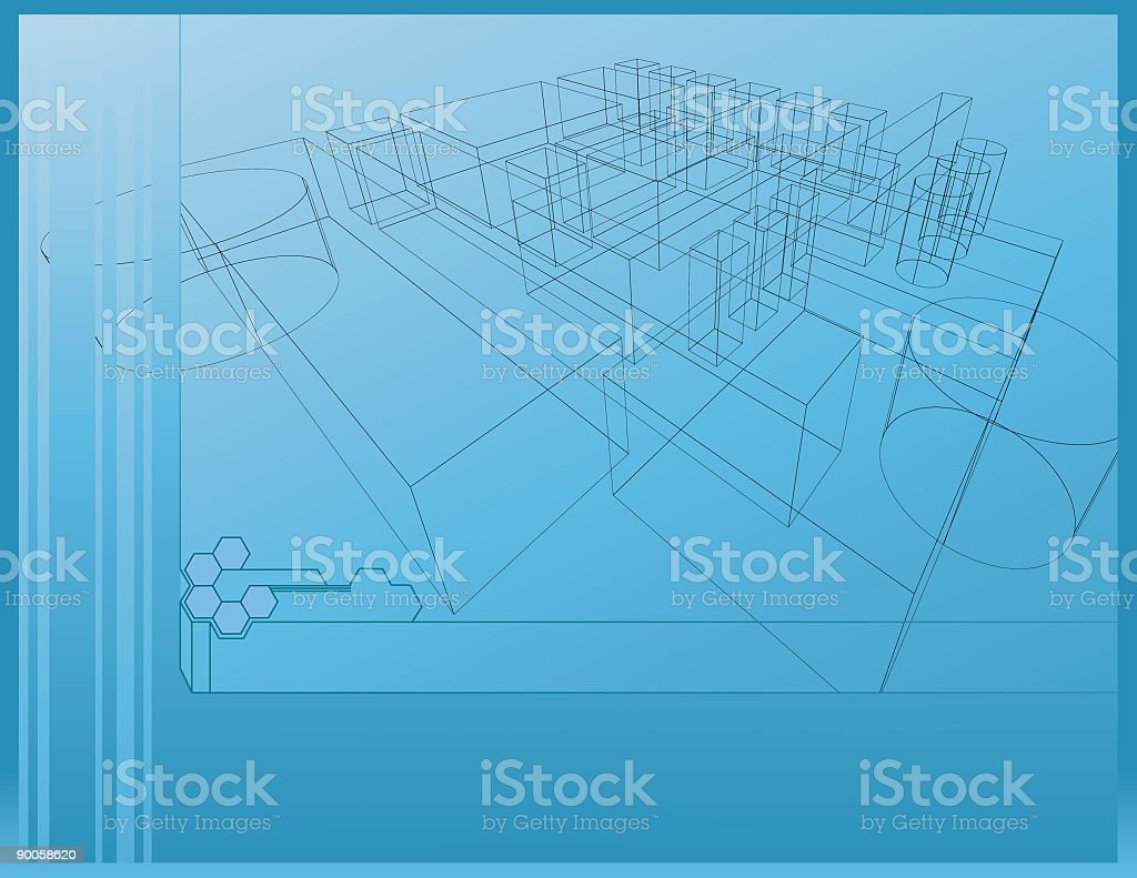 Wireframe Background vector art illustration