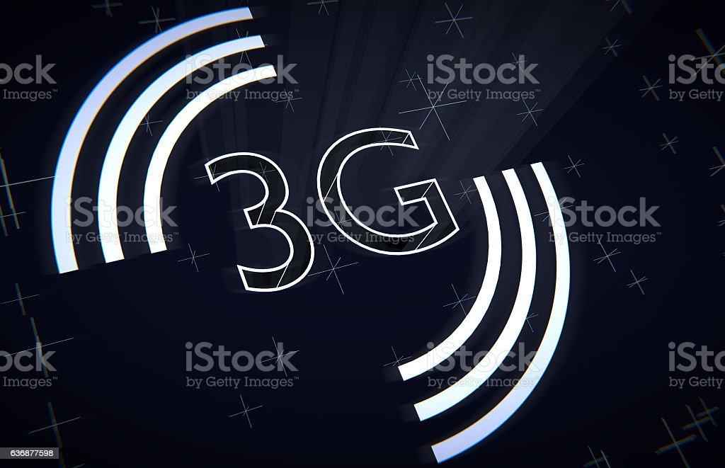 3G UMTS Wireless Communication Technology vector art illustration