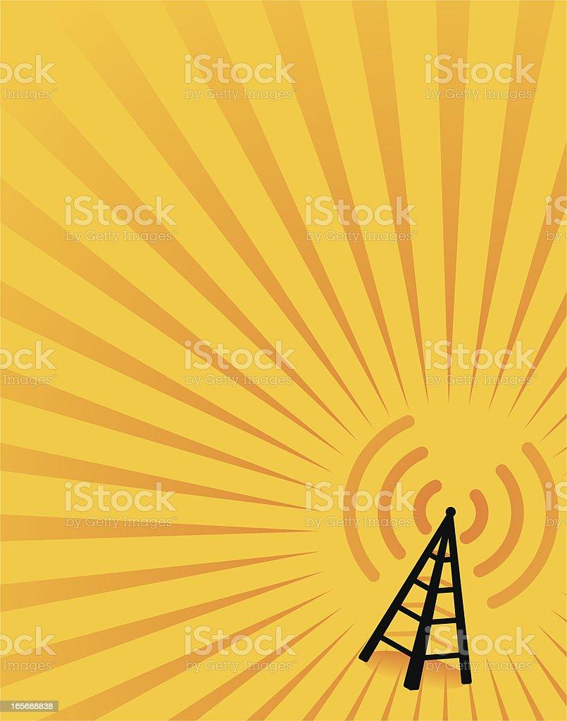 wireless flyer vector art illustration