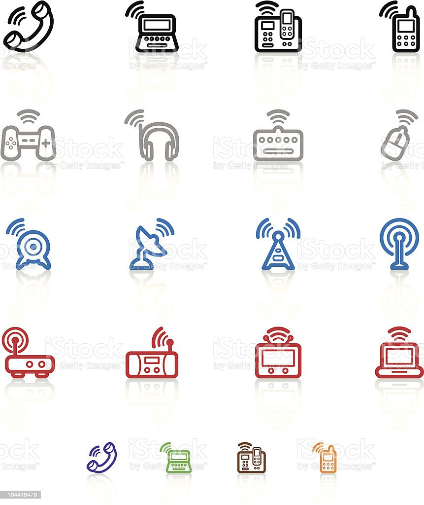 Wireless Technology Icons royalty-free stock vector art