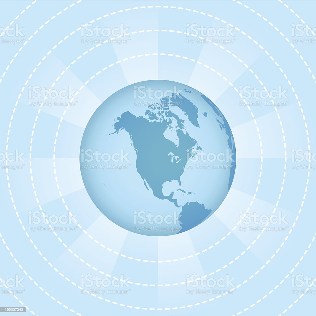 Wireless World - North America ( vector & jpg ) royalty-free stock vector art