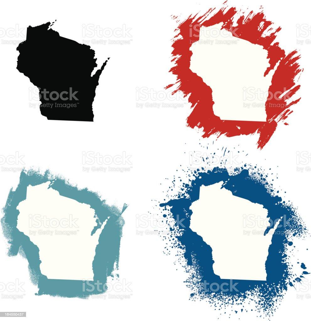 Wisconsin vector art illustration