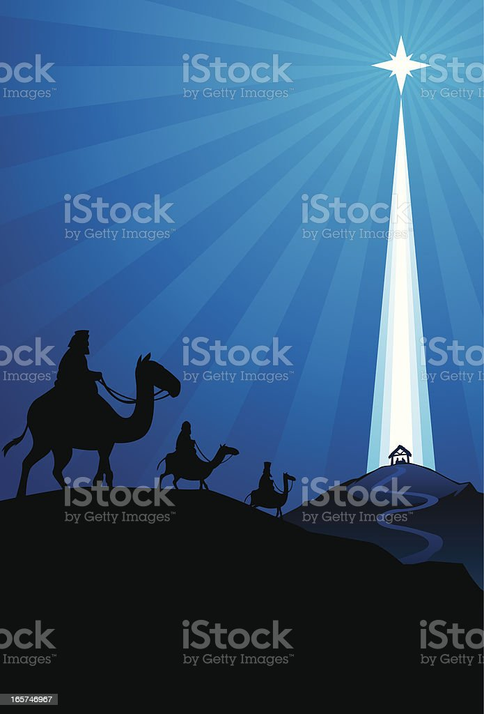 wise men nativity royalty-free stock vector art