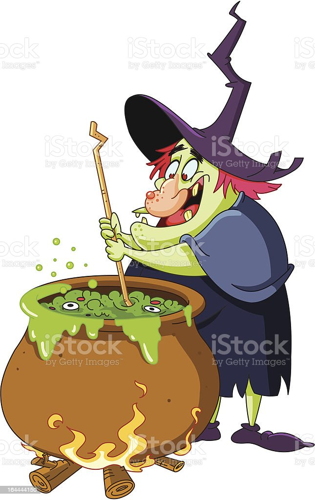 Witch brew vector art illustration