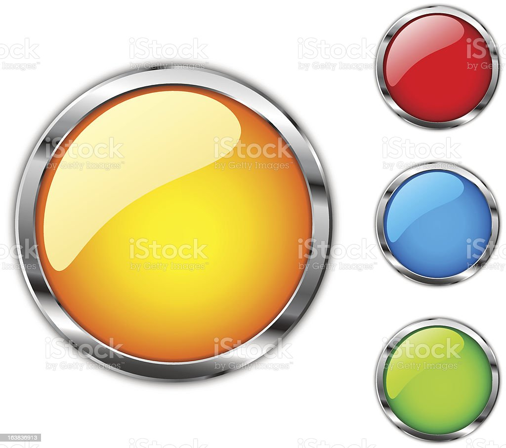 Сhrome buttons royalty-free stock vector art