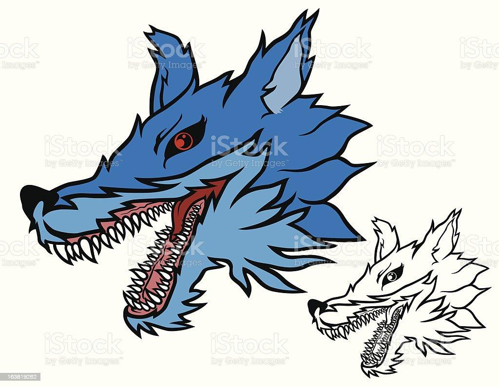 wolf head royalty-free stock vector art