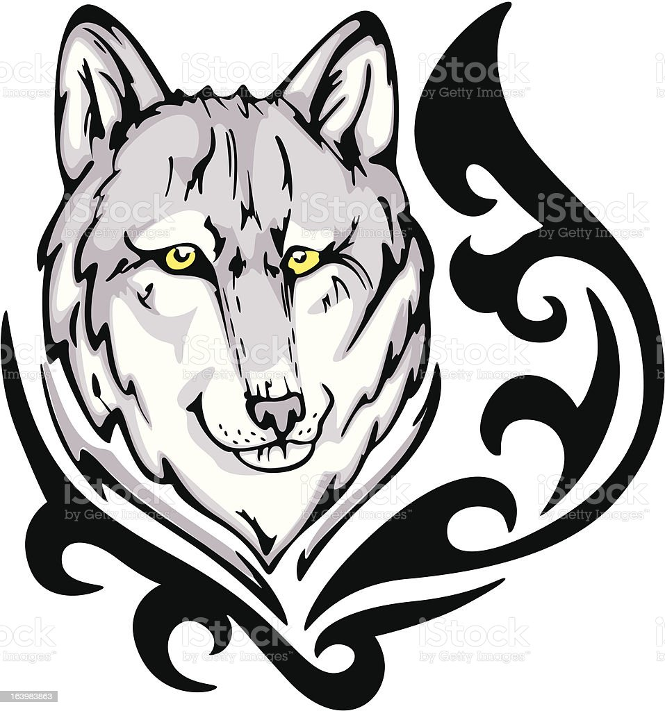 wolf tattoo royalty-free stock vector art