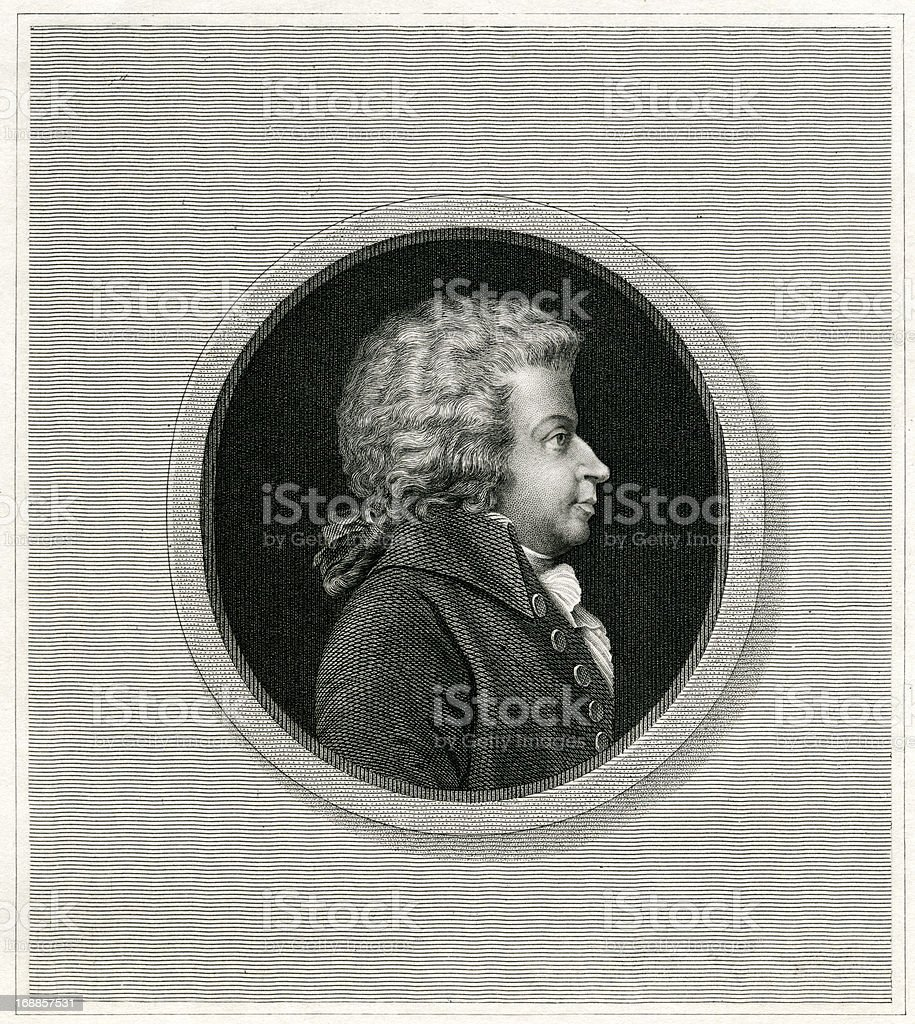 Wolfgang Amadeus Mozart royalty-free stock vector art