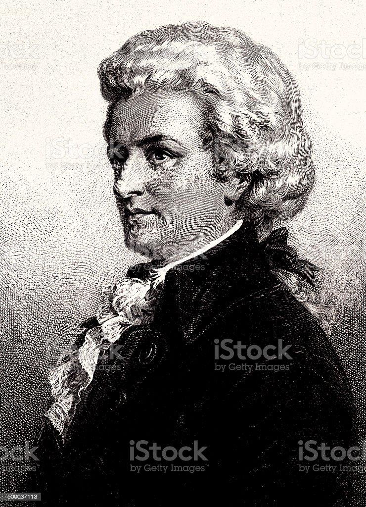 Wolfgang Amadeus Mozart vector art illustration