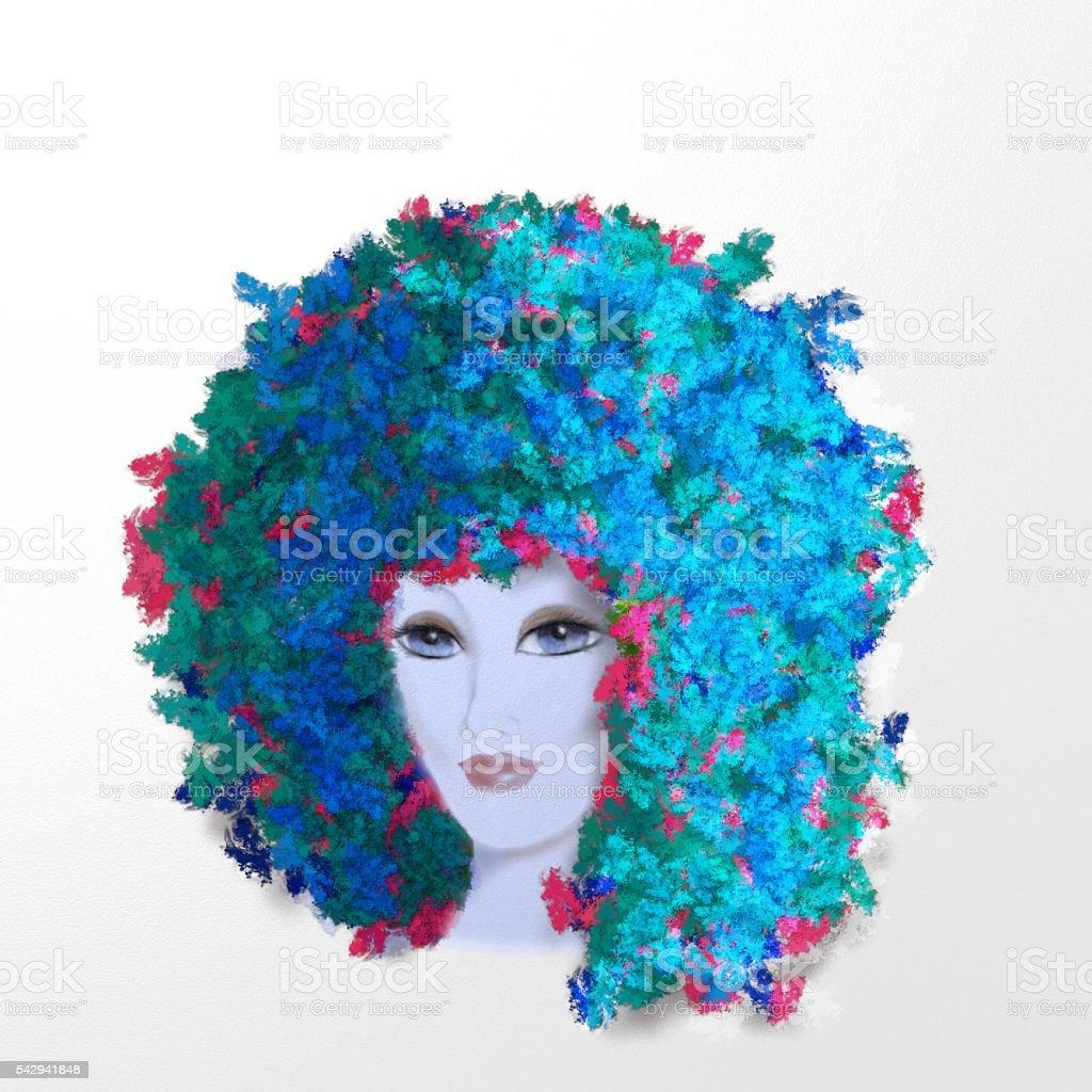 woman fashion pop vector art illustration