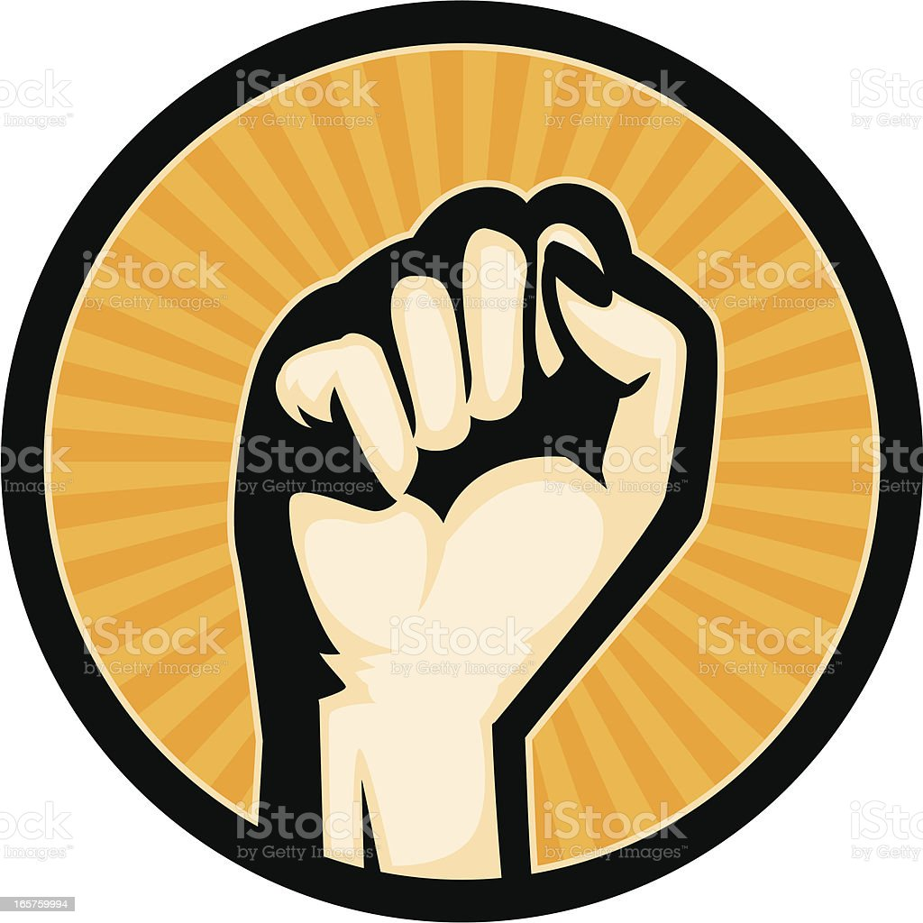 woman fist royalty-free stock vector art