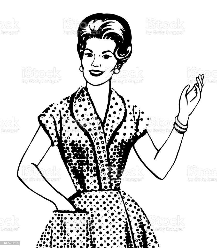 Woman Gesturing royalty-free stock vector art