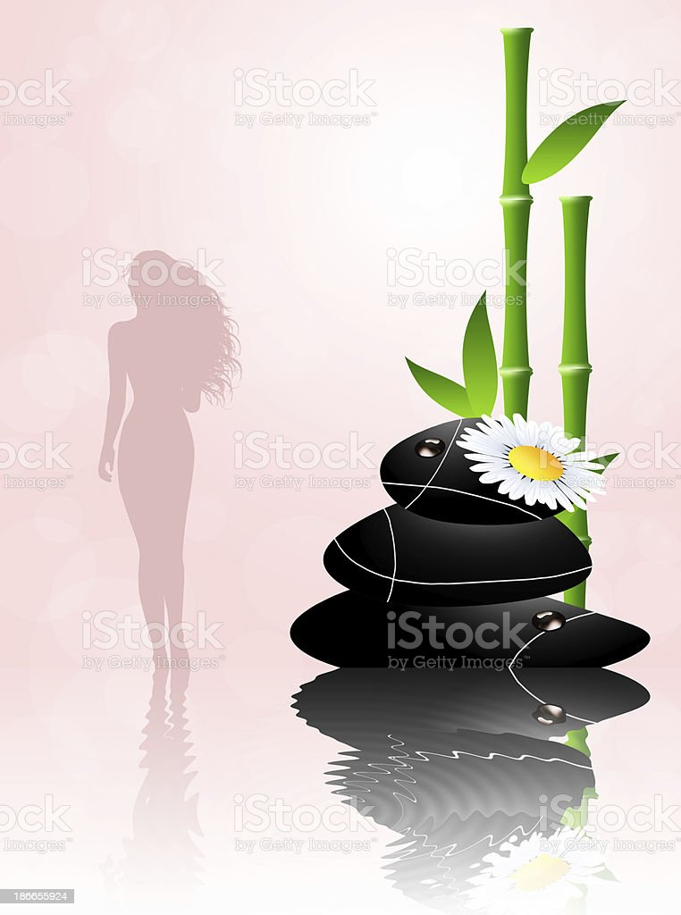 Woman in Beauty Center royalty-free stock vector art