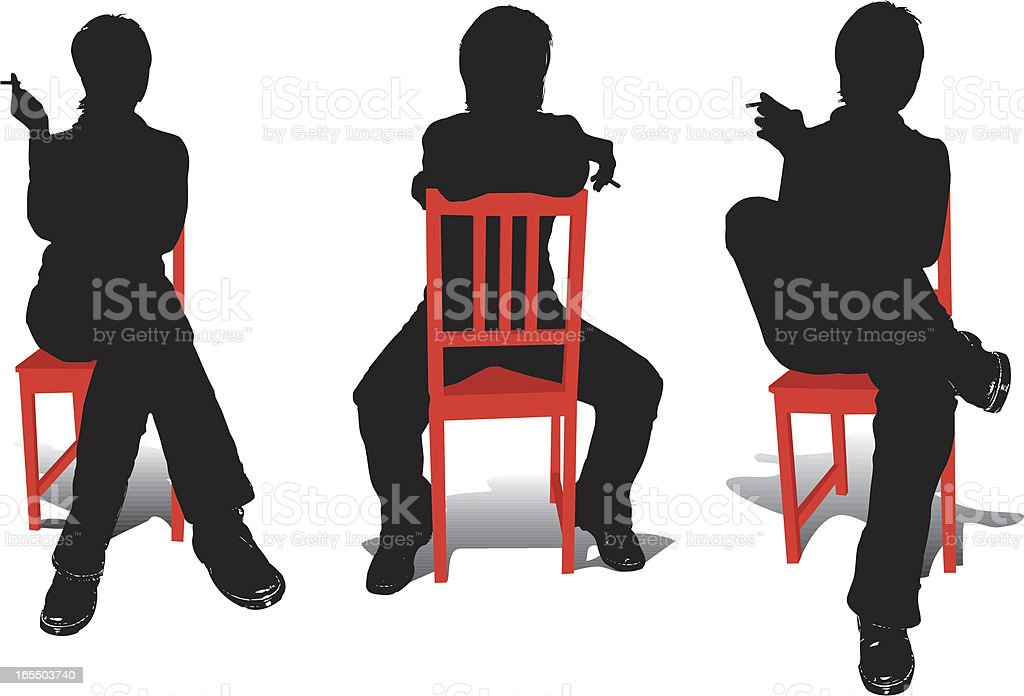 Woman in Chair royalty-free stock vector art
