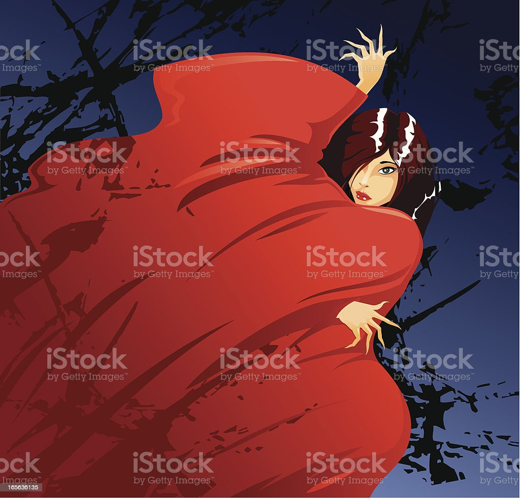 Woman in red royalty-free stock vector art