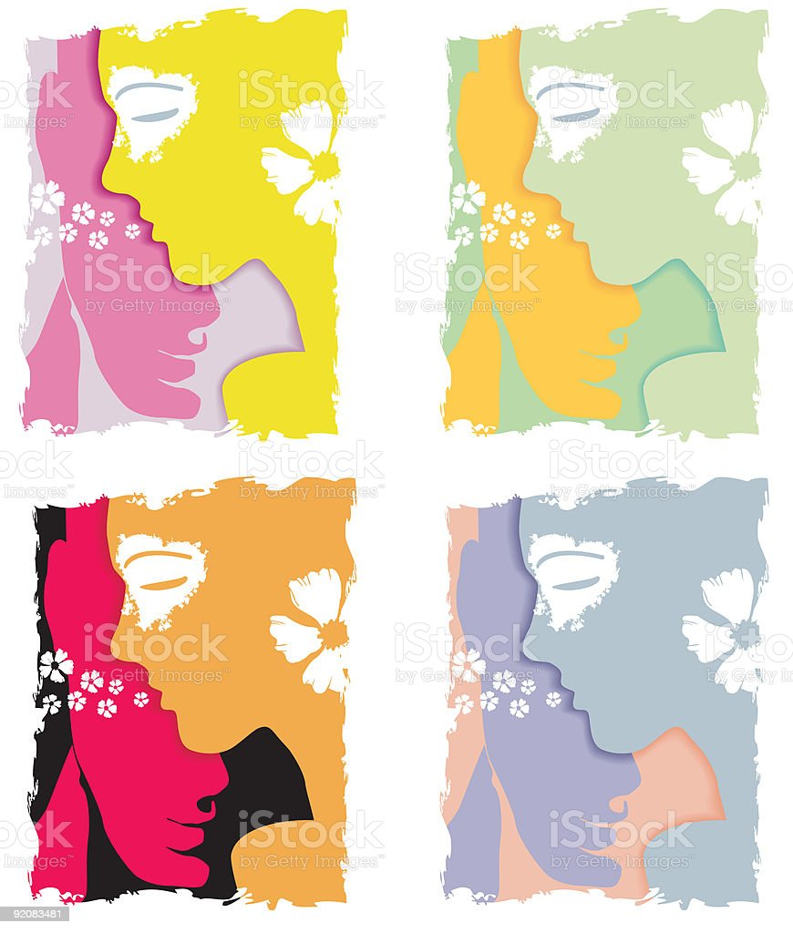 Woman, man and a bit of feelings royalty-free stock vector art