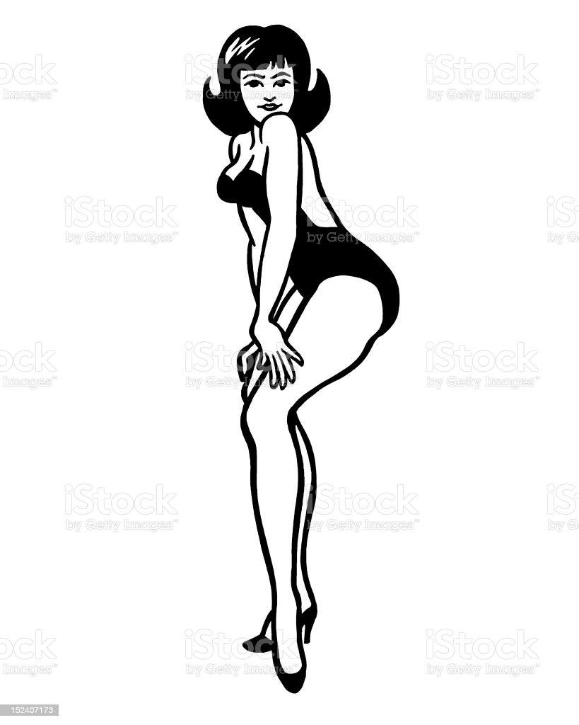 Woman Posing royalty-free stock vector art
