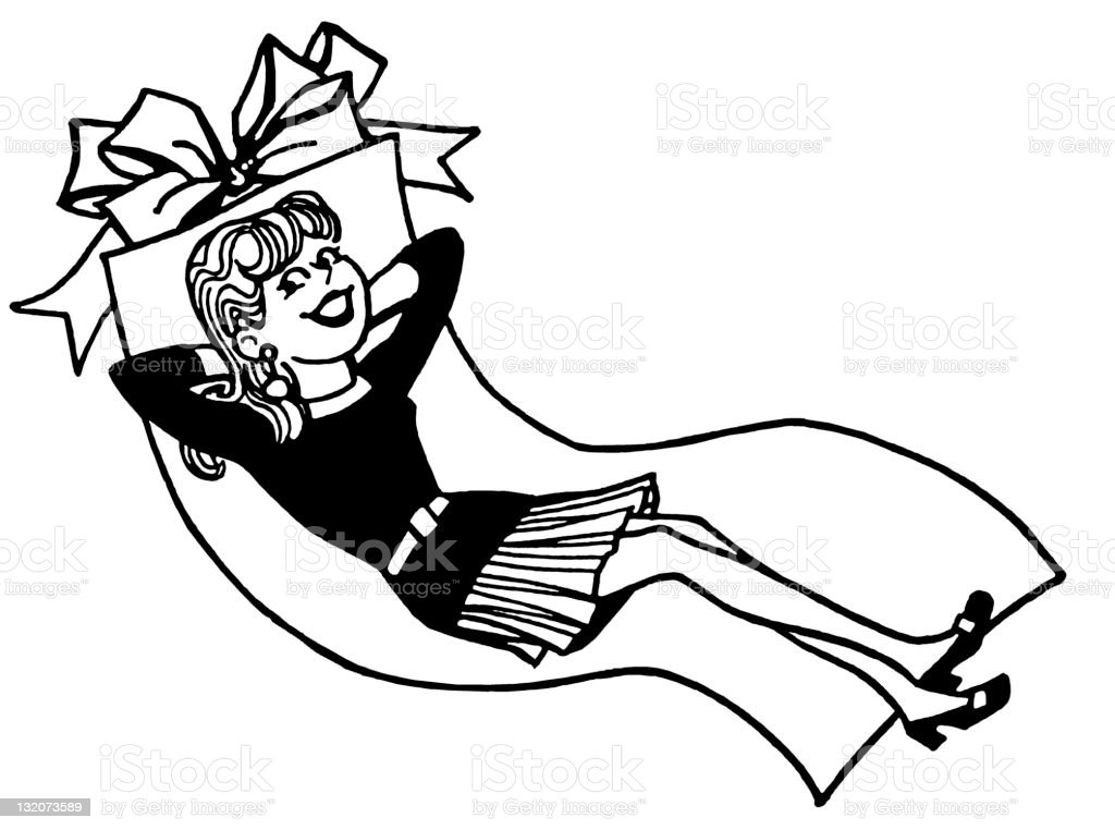 Woman Reclining royalty-free stock vector art