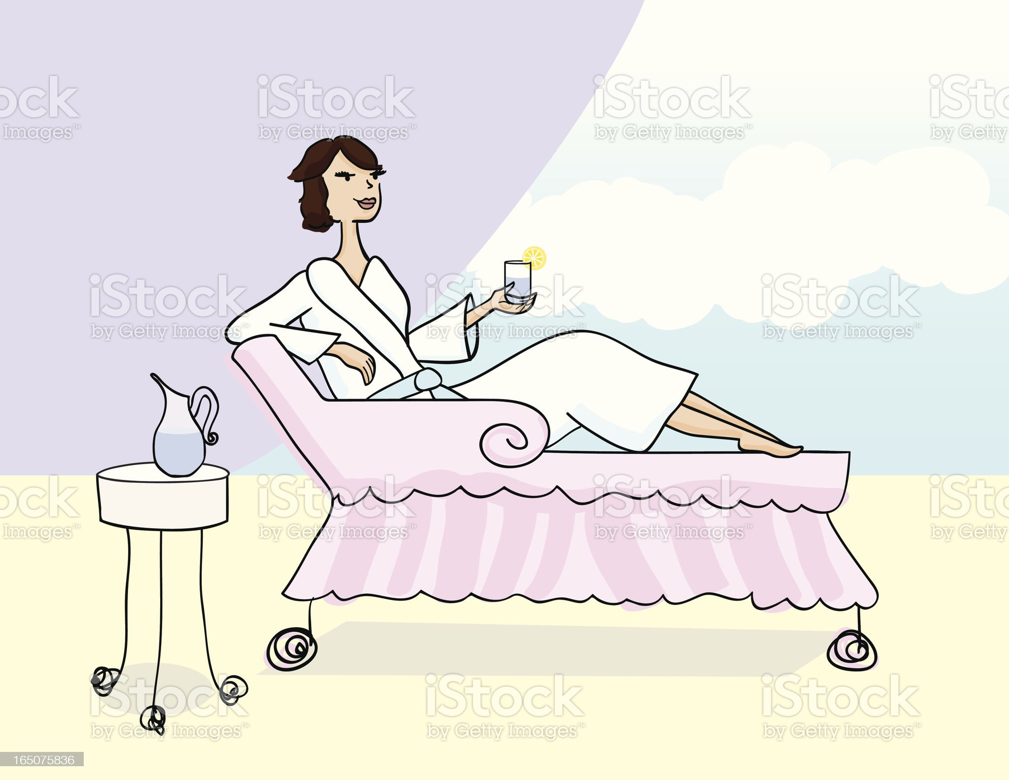 Woman Relaxing royalty-free stock vector art