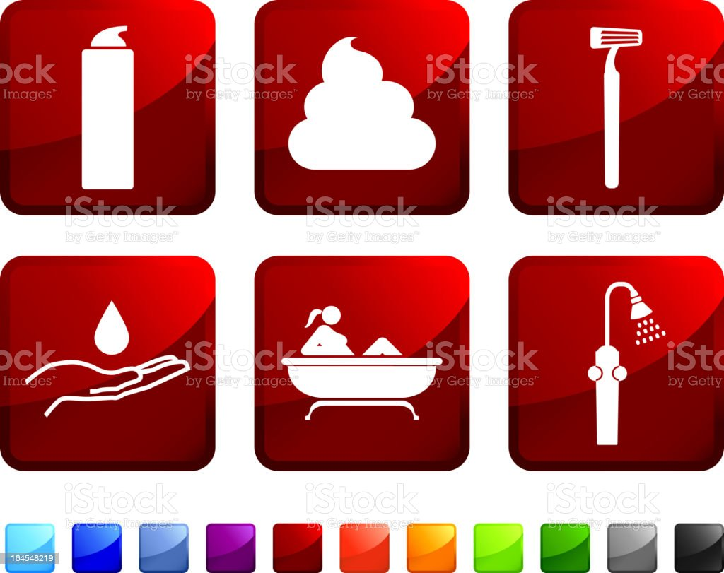 woman shaving legs royalty free vector icon set stickers royalty-free stock vector art