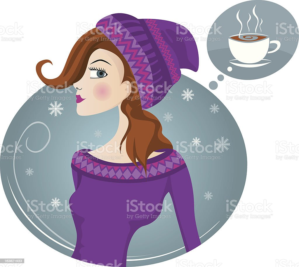 woman snow royalty-free stock vector art