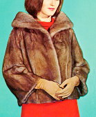 Woman Wearing a Fur Jacket