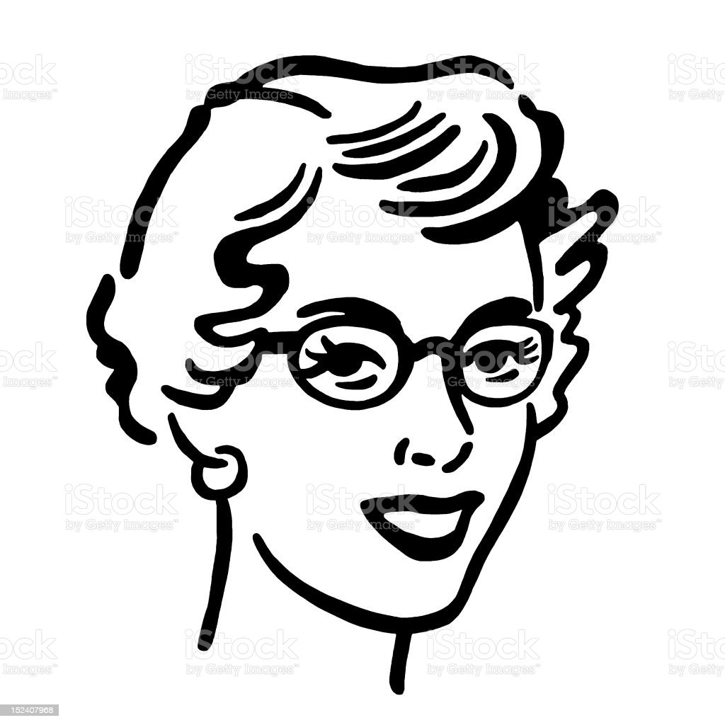 Woman Wearing Glasses royalty-free stock vector art