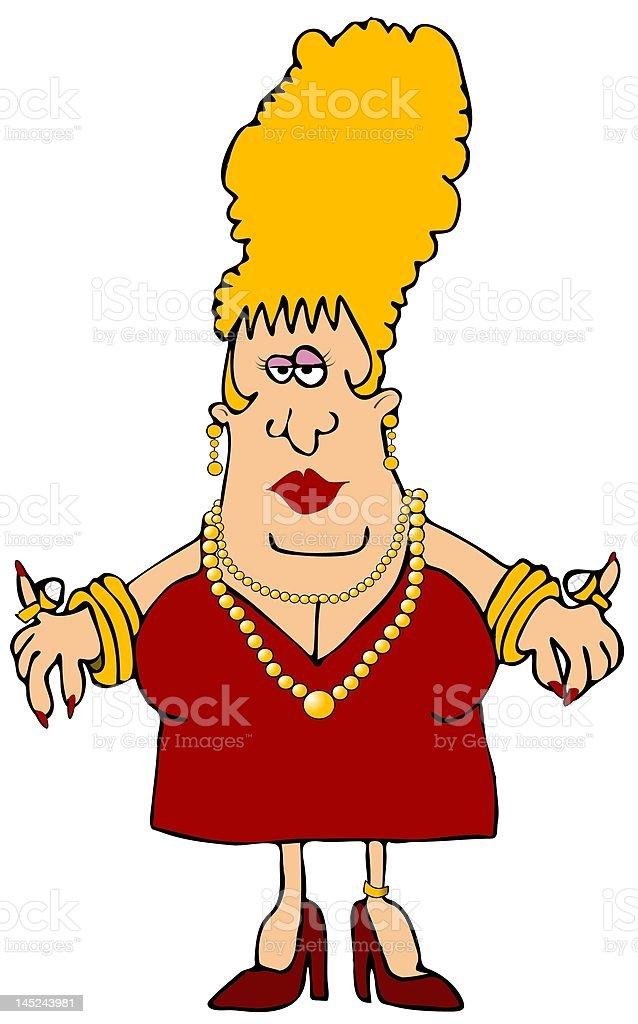 Woman Wearing Jewelry royalty-free stock vector art
