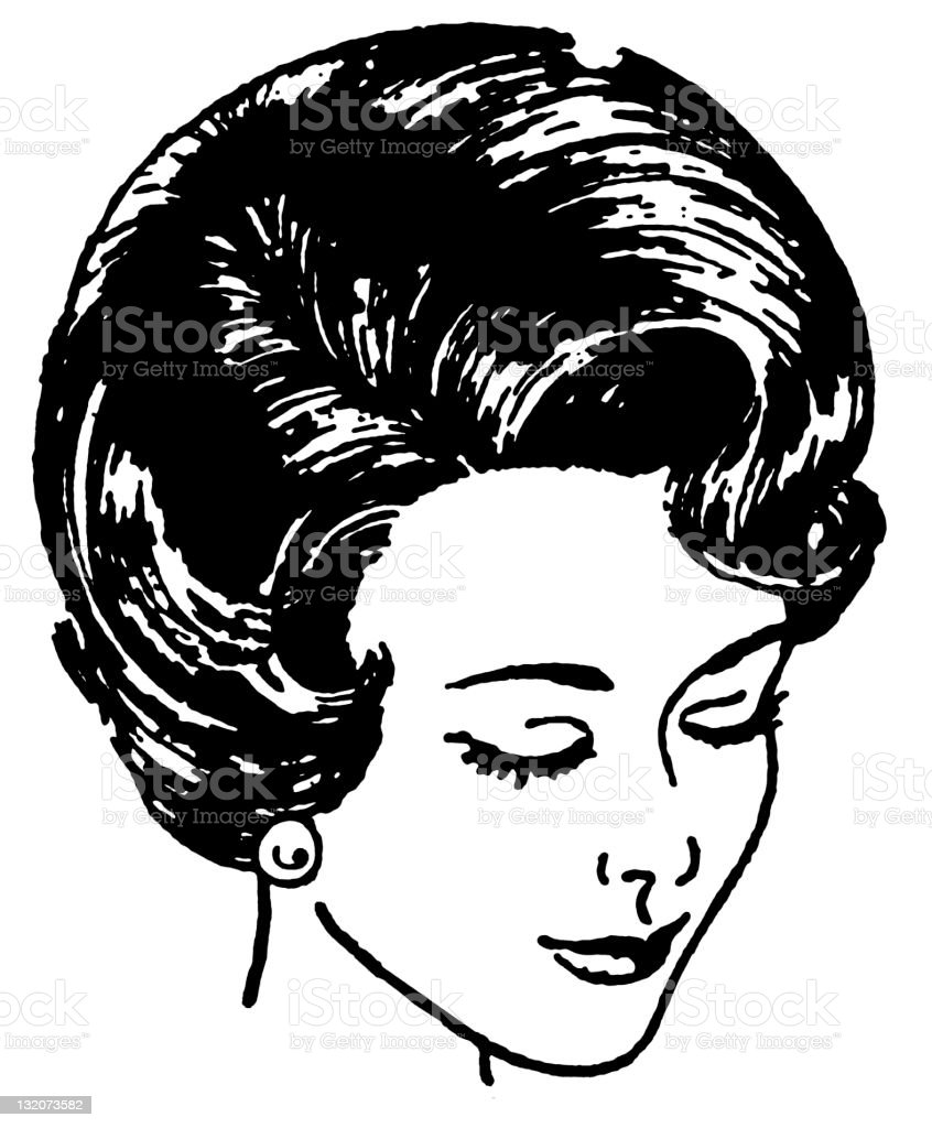 Woman's Hairstyle royalty-free stock vector art