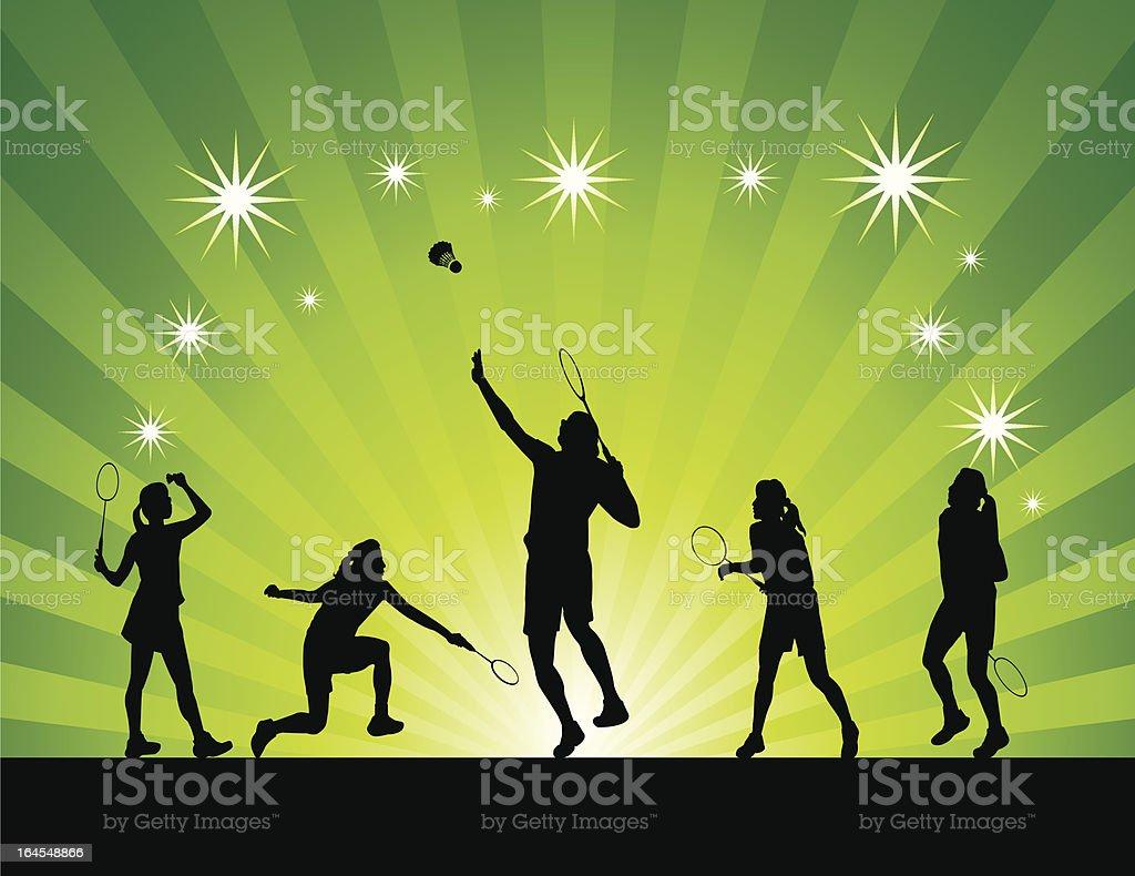 Women badminton abstract royalty-free stock vector art